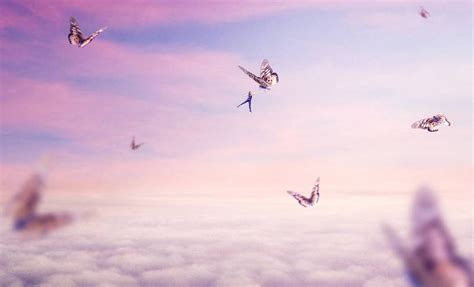 Create a Surreal Flying Scene with Giant Butterflies in
