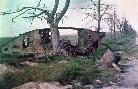 Photo of the Day: Destroyed WWI Beutepanzer – Tank and AFV