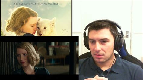 The Zookeeper's Wife Trailer Reaction - YouTube