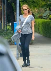 Helen Hunt in Tights out and about in Brentwood   GotCeleb