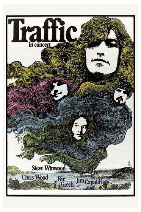 Traffic at Germany Promotional Concert Poster 1971