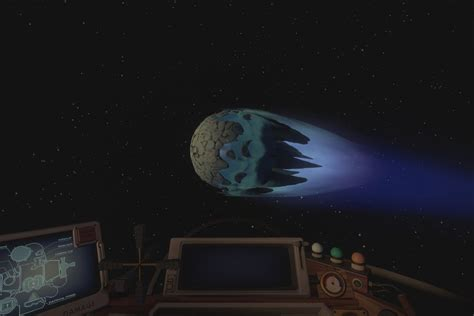 Outer Wilds Frozen Nomai Shuttle and the Rupture Core on