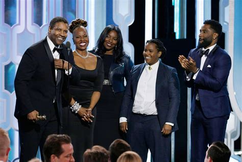 Denzel Washington Brings Family Onstage at the Golden