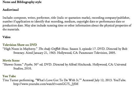 Citing film and video - Citing Your Sources - Research